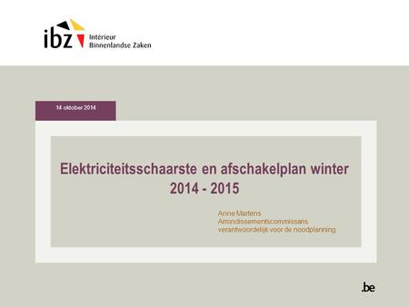 Elektriciteitsschaarste en afschakelplan winter