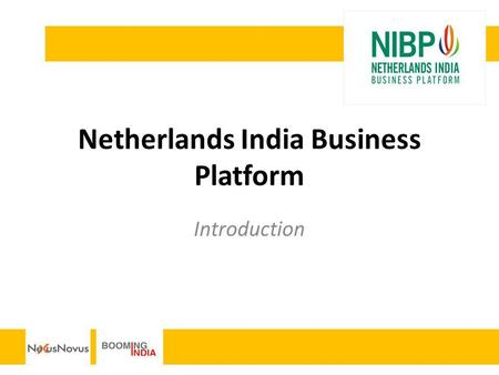 Netherlands India Business Platform Introduction.