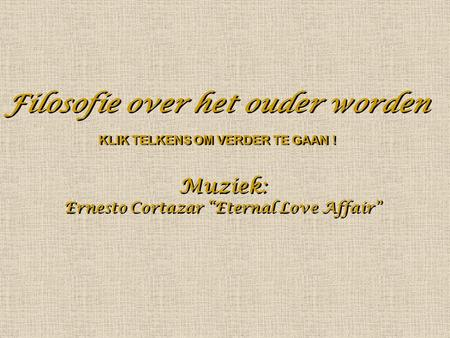 "Ernesto Cortazar ""Eternal Love Affair"""