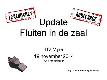 Update Fluiten in de zaal