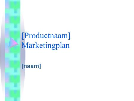 [Productnaam] Marketingplan