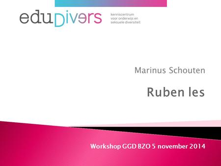 Marinus Schouten Ruben les Workshop GGD BZO 5 november 2014.