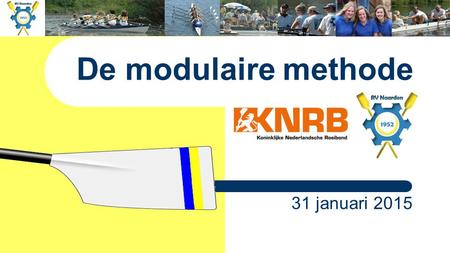 De modulaire methode 31 januari 2015.