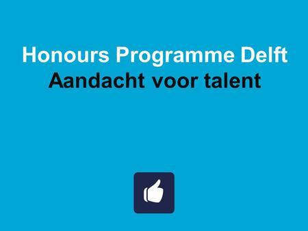 Honours Programme Delft - ppt download