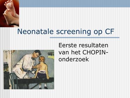 Neonatale screening op CF