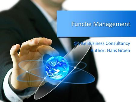 Functie Business Consultancy Author: Hans Groen.