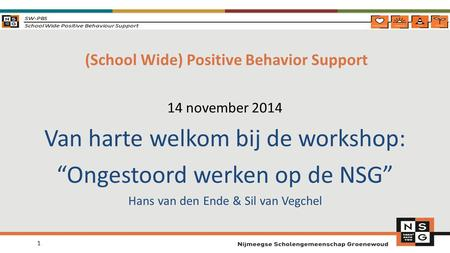 (School Wide) Positive Behavior Support