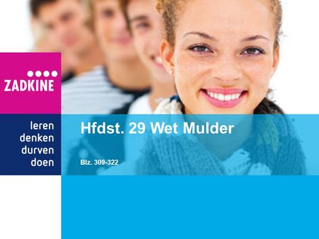 Hfdst. 29 Wet Mulder Blz. 309-322.