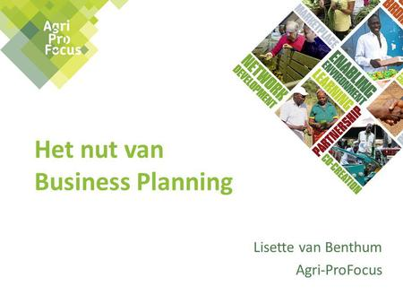 Het nut van Business Planning
