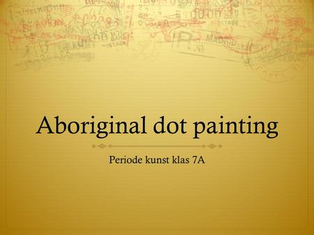 Aboriginal dot painting