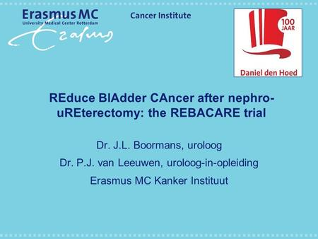 REduce BlAdder CAncer after nephro-uREterectomy: the REBACARE trial