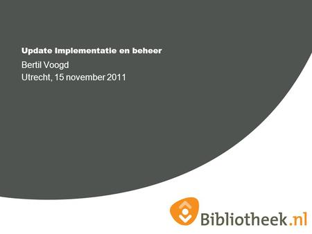 Update Implementatie en beheer