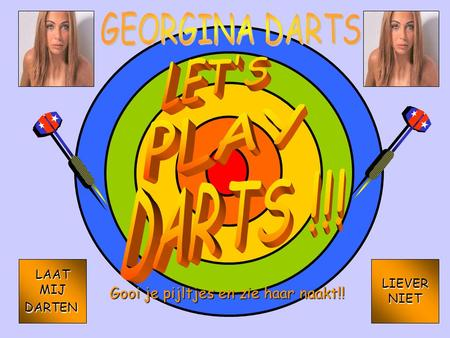 GEORGINA DARTS LET'S PLAY KIPKE GRAPHICS BOB KIPKE GRAPHICS