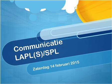 Communicatie LAPL(S)/SPL