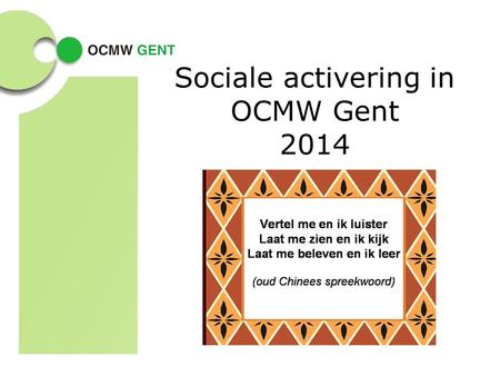 Sociale activering in OCMW Gent