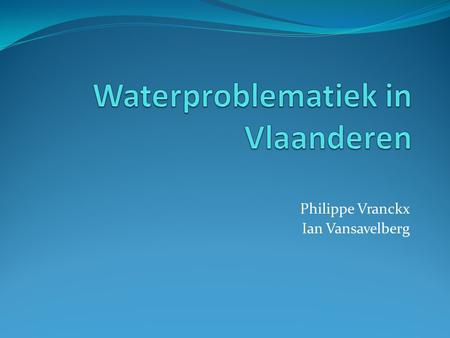 Waterproblematiek in Vlaanderen