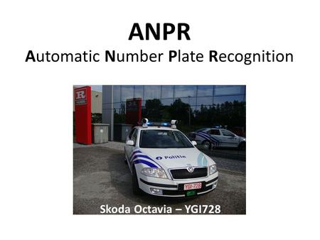 ANPR Automatic Number Plate Recognition Skoda Octavia – YGI728.