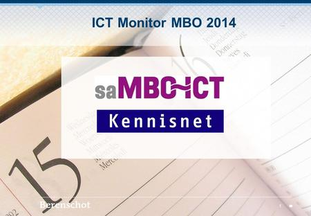 ICT Monitor MBO 2014.