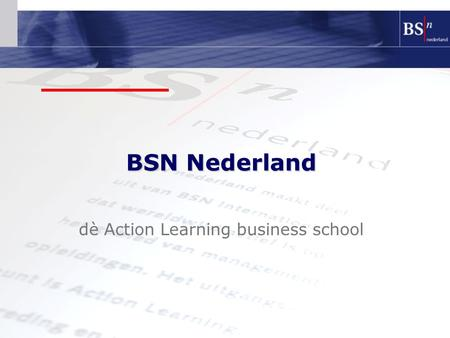 dè Action Learning business school