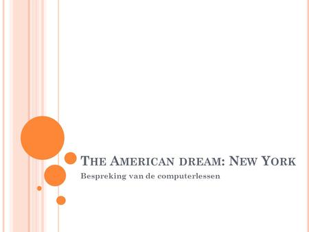 The American dream: New York