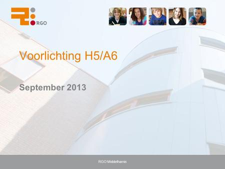 RGO Middelharnis Voorlichting H5/A6 September 2013.