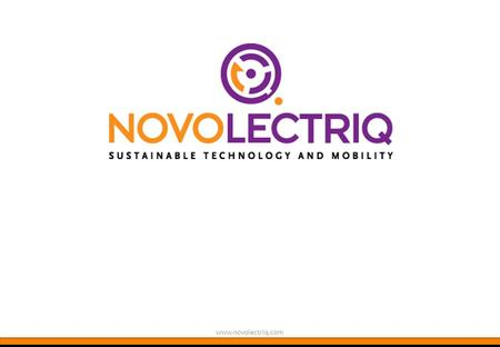 Www.novolectriq.com. 2 WHAT A GREAT TIME FOR ELECTRICAL VEHICLES Egbert Wissink | Algemeen Directeur Tjerk Jansma | Bedrijfsleider.