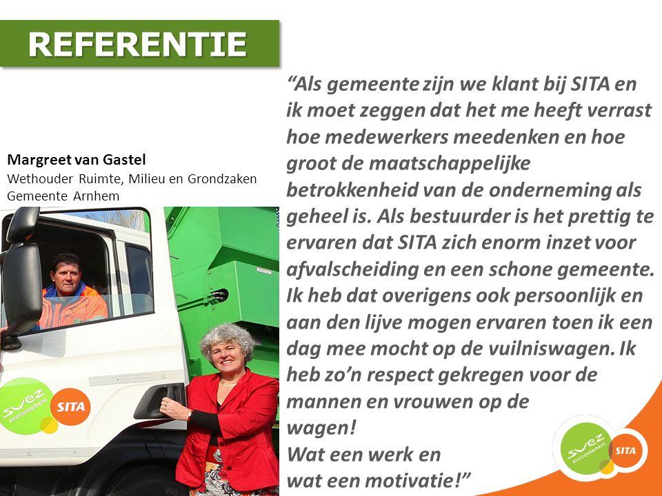 Erik Posthumus Adviseur Beheer, Cluster Openbare Ruimte Gemeente Arnhem Samen met SITA hebben wij plannen ontwikkeld om binnen enkele jaren de nationale doelstellingen voor hergebruik van huishoudelijk afval te realiseren.