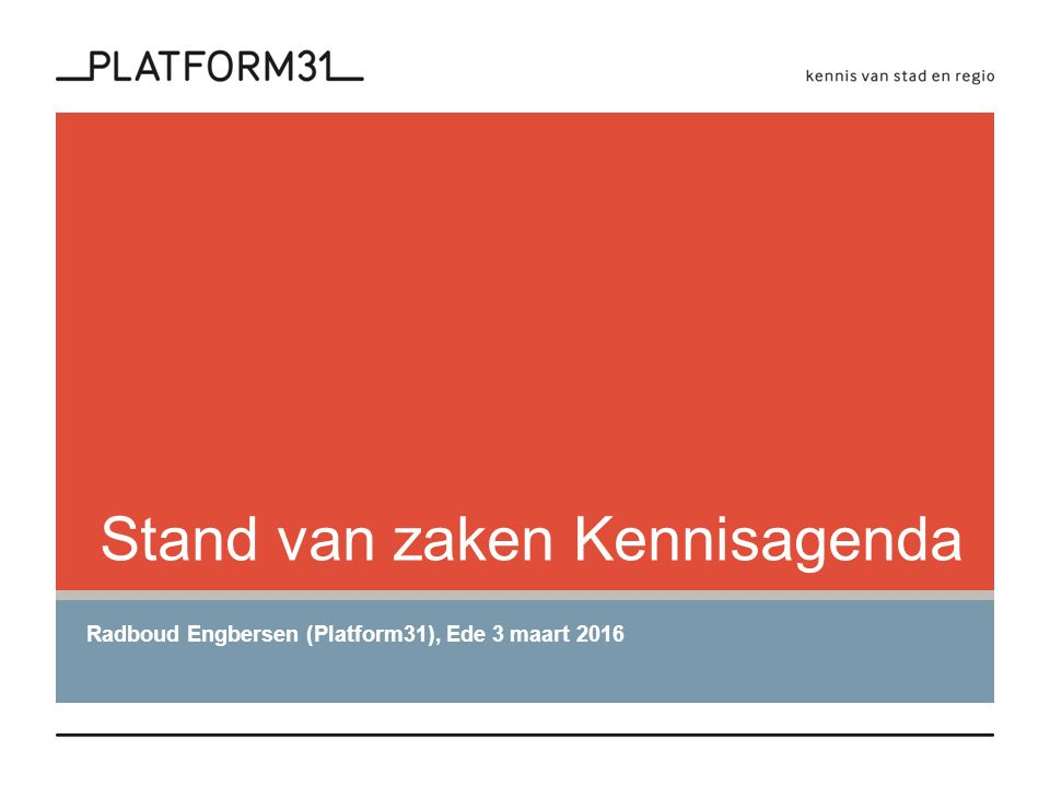 Kennisplatform Demografische Transitie (KDT) Kennisagenda 2014  Economisch vitaliteit  Ruimte en de bebouwde omgeving  Voorzieningen en leefbaarheid