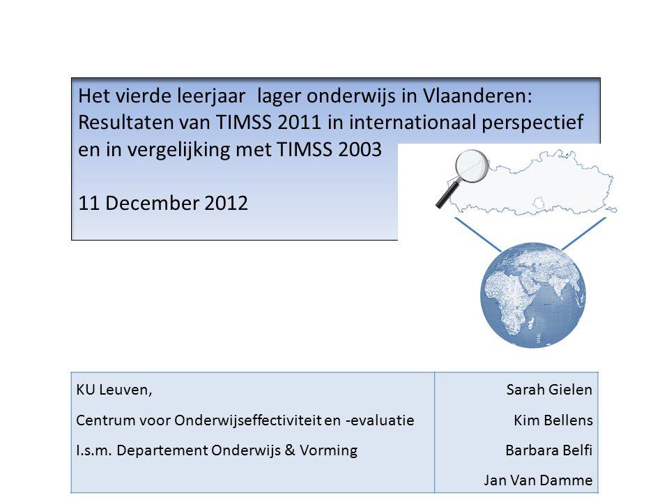 Overzicht 1.Inleiding Wat is TIMSS. Vlaanderen in TIMSS 2.