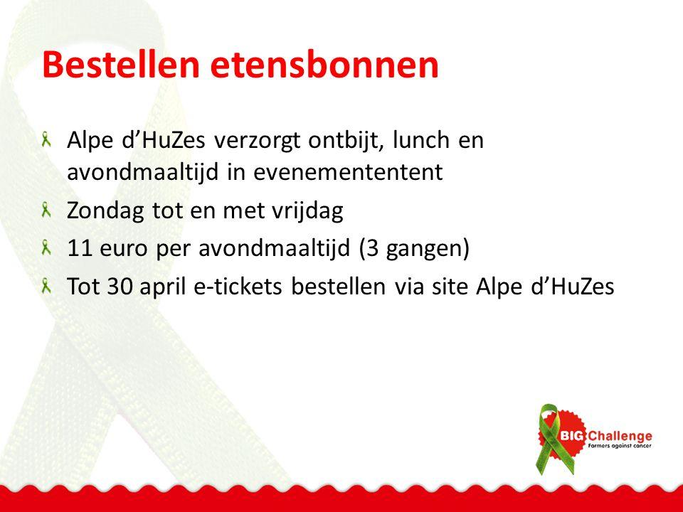 Frans-Nederlandse BBQ Op dinsdagavond In Bourg d'Oisans (onderaan de berg) Organisatie Franse bevolking samen met Alpe d'HuZes Dus in plaats van avondmaaltijd boven op de berg, onderaan een bbq E-tickets bestellen