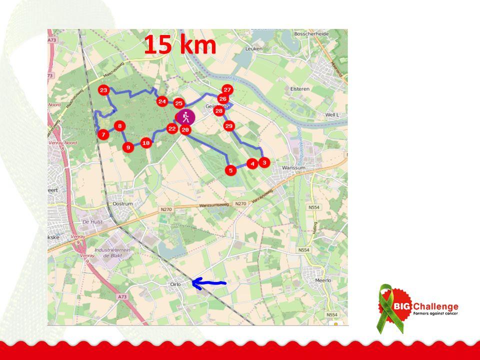 2 x 4 + 15 km = 23 km