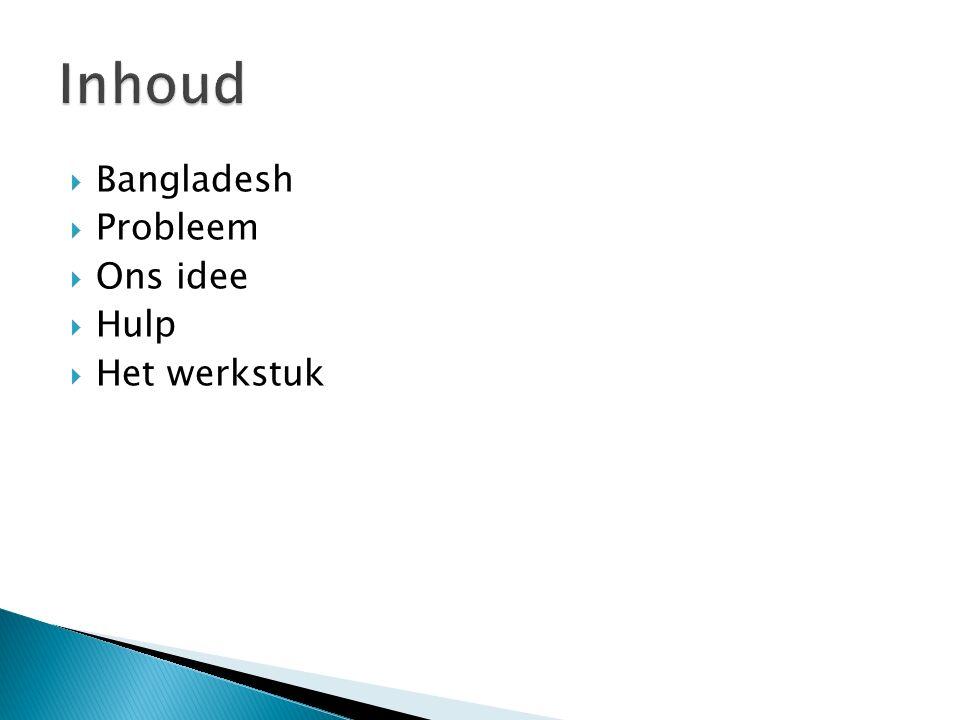  Bangladesh is een klein land in Zuid-Azië naast India.