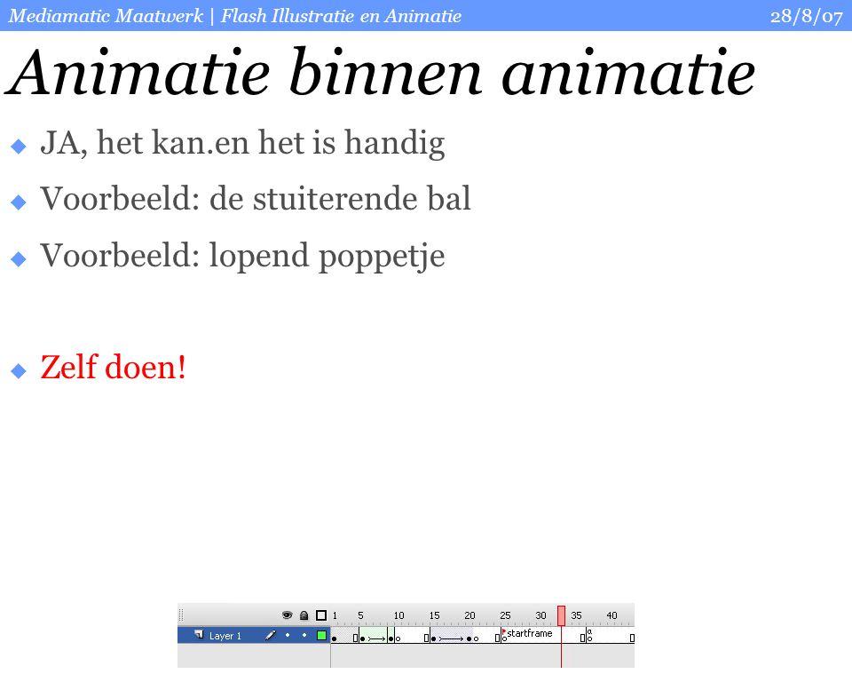 28/8/07Mediamatic Maatwerk   Flash Illustratie en Animatie Vrije animatie opdracht  Animeer een strand scene.