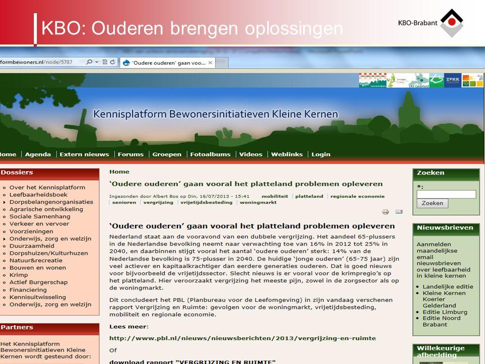 6 Regionaal Beraad Organogram KBO-Brabant leden Afdeling Cluster binnen een gemeente KRING ALGEMEEN BESTUURBUREAU ALGEMENE VERGADERING WMO, Mill en St.