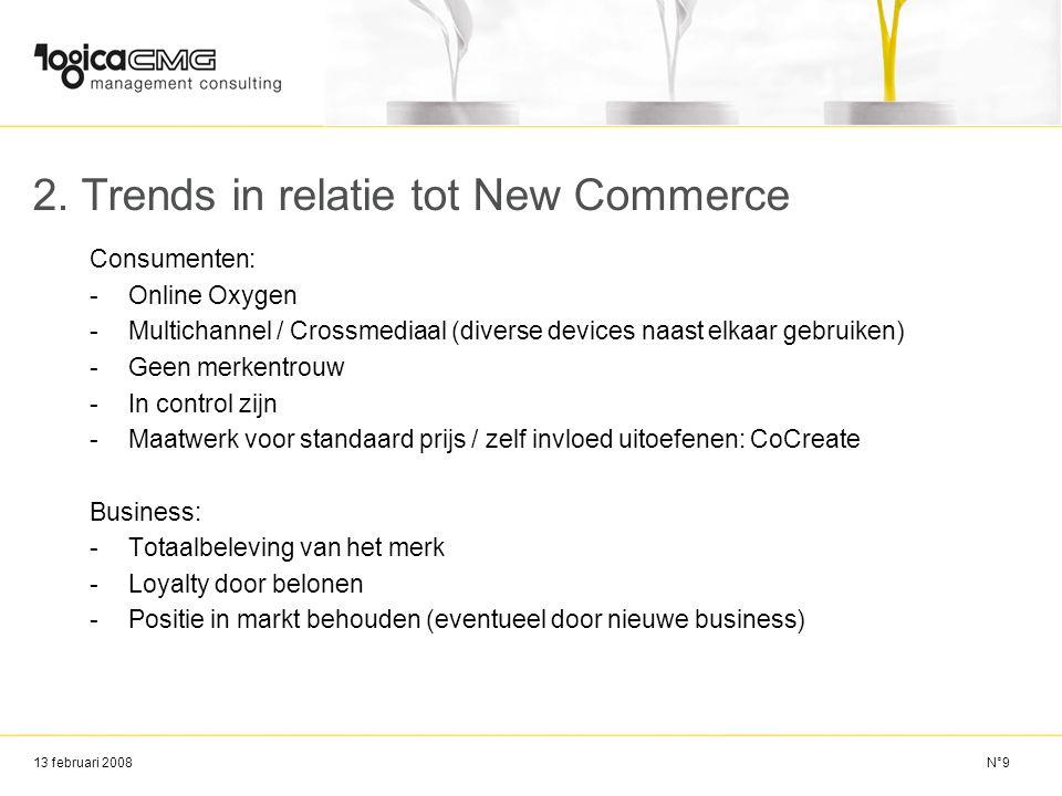 13 februari 2008 3.Toekomstvisie Verder ontwikkelen kanalen mCommerce etc.