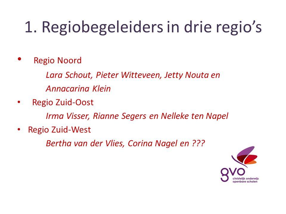 2.Wat doet een regiobegeleider. Zorgen dat GVO goed loopt op de scholen.