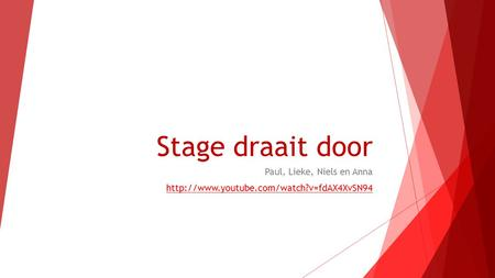 Stage draait door Paul, Lieke, Niels en Anna