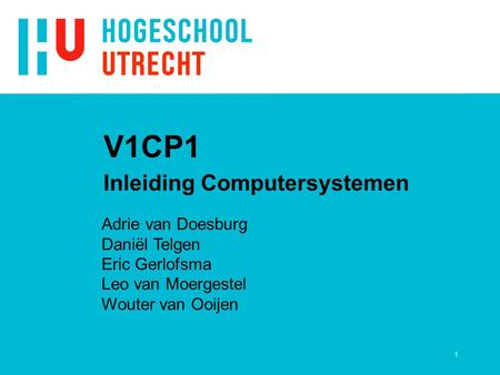 Inleiding Computersystemen