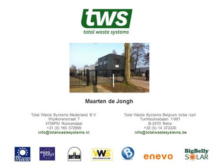 Total Waste Systems Belgium bvba /sprl