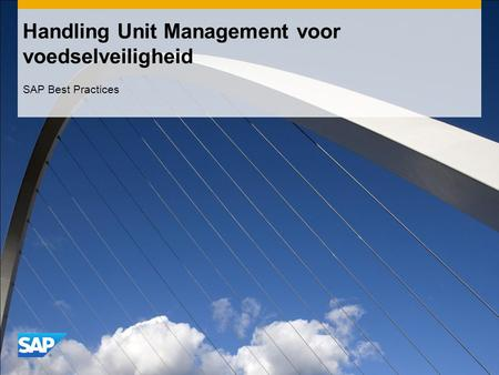 Handling Unit Management voor voedselveiligheid SAP Best Practices.