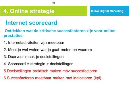 4. Online strategie Internet scorecard