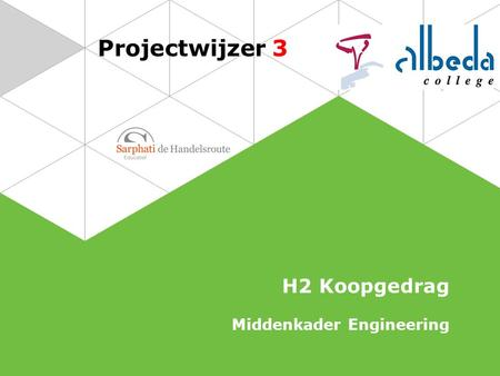 Projectwijzer 3 H2 Koopgedrag Middenkader Engineering.