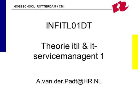 INFITL01DT Theorie itil & it-servicemanagent 1
