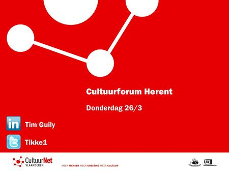 Cultuurforum Herent Donderdag 26/3 Tim Guily Tikke1.
