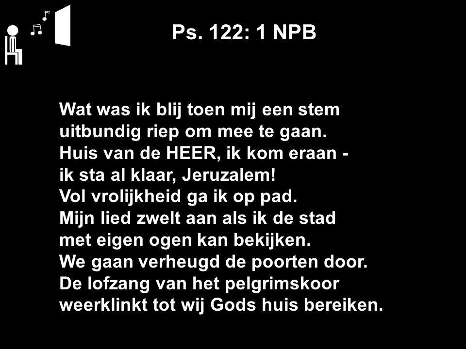Ps.122: 2 NPB Jeruzalem toont mij haar pracht: een oogverblindend meesterwerk.