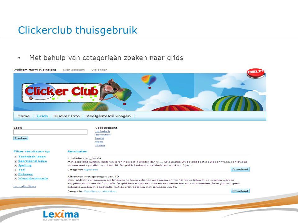 Clickerclub thuisgebruik Vragen kunnen op de website worden gesteld