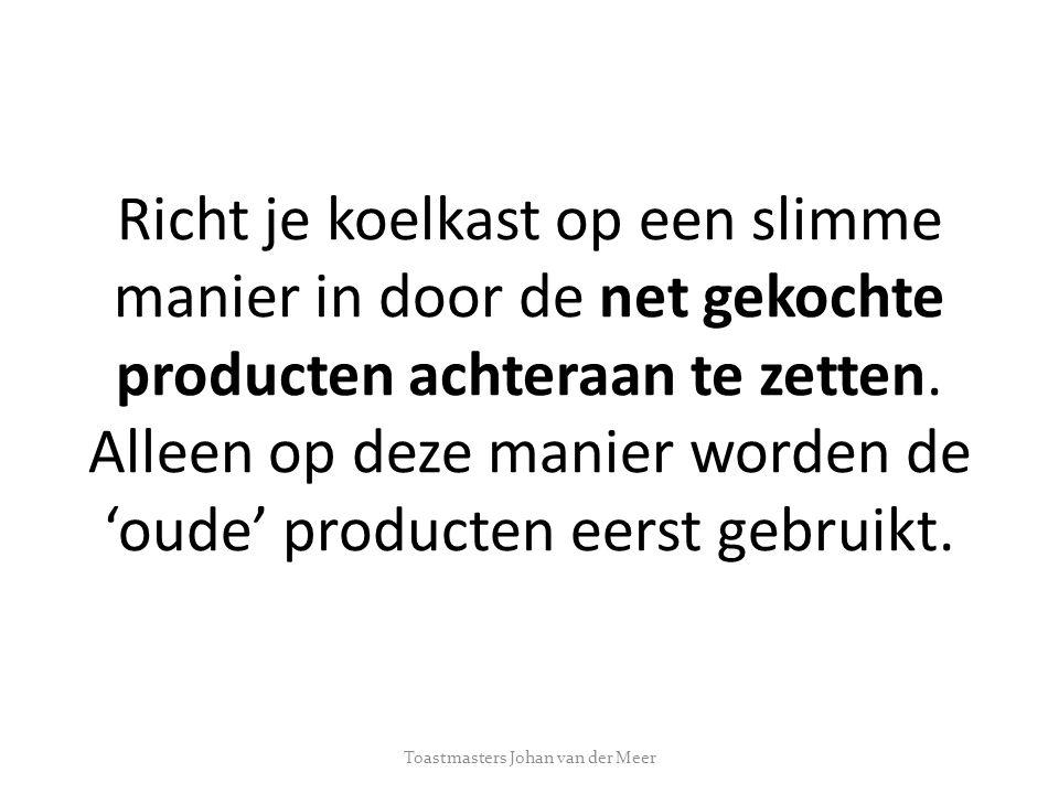 Bedankt voor jullie aandacht Toastmasters Johan van der Meer
