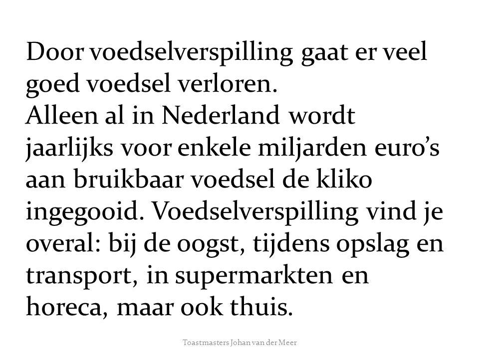 Toastmasters Johan van der Meer