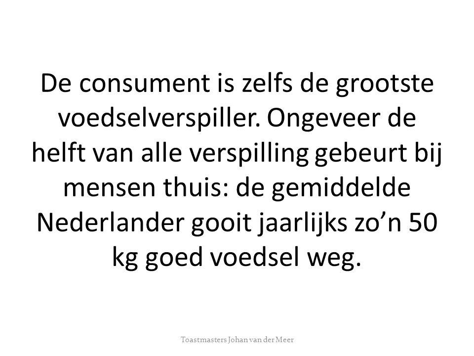 Hiermee gooit de Nederlandse consument voor ongeveer 2,5 miljard euro aan eetbaar voedsel per jaar weg.