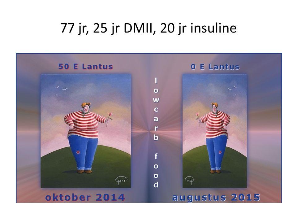 77 jr, na 25 jr.DMII, 20 jr.
